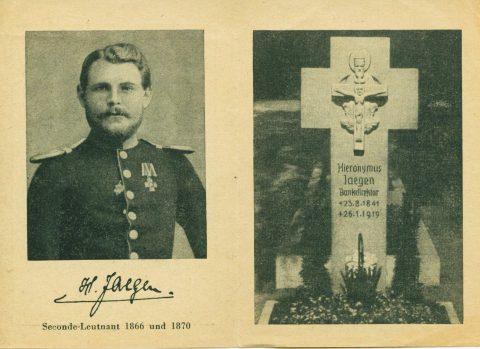 Totenzettel des Hieronymus Jaegen |