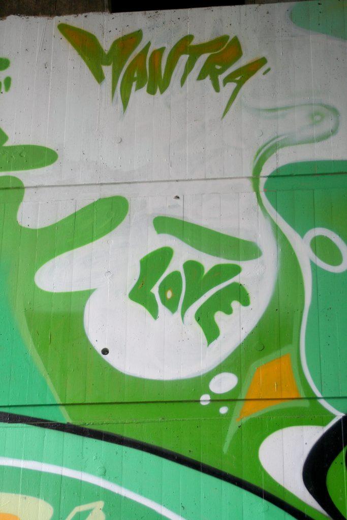 Writing wall graffiti art form