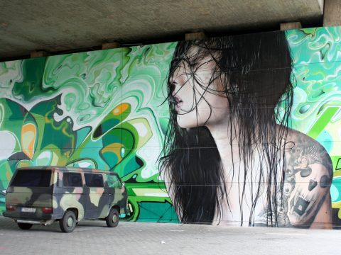 MANTRA & LOVE, The Green Wall, 2015 | Konrad-Adenauer-Brücke, Trier