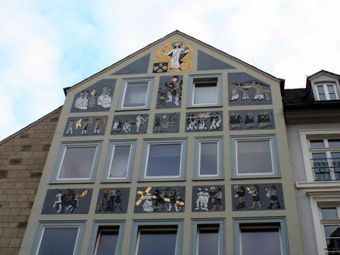 Werner Persy, Karfreitagsprozession am Bilderhaus, 1962 | Sternstraße, Trier