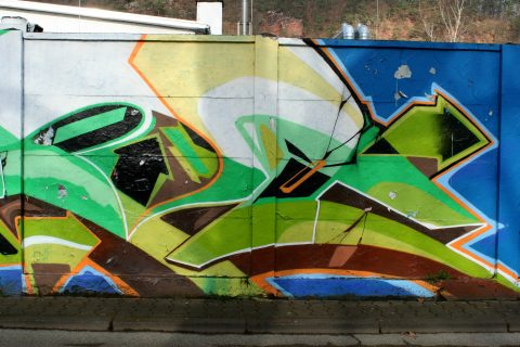 Unbekannte Sprayer, Wall of Fame, 2015 | Exhaus, Trier-Nord