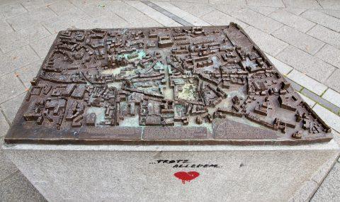Egbert Broerken, Modell der Stadt Trier, 2011 | Kornmarkt, Trier