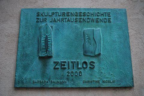 Christine Nicolay, Zeitlos, 2000 | Hinterhof der Privaten Kath. Fachschule für Sozialwesen, Trier