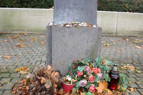 Franz Schönberger, Gedenkstele an der alten Synagoge, 1984_Alte_Synagoge_2 | An der alten Synagoge, Trier