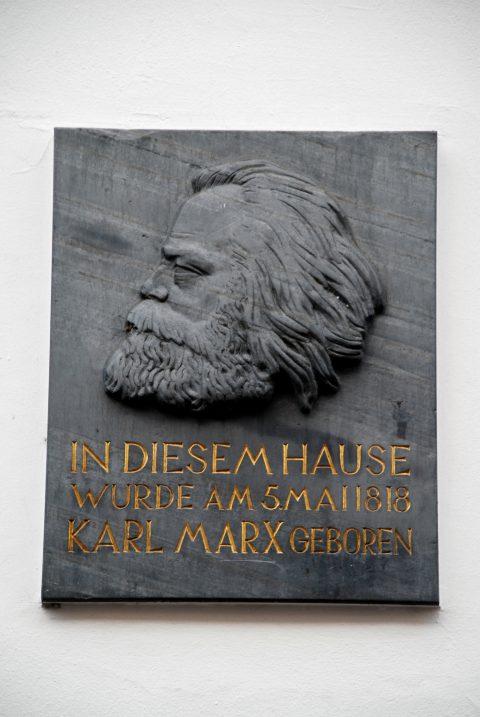 Michael Trierweiler, Gedenktafel für Karl Marx, 1947 |