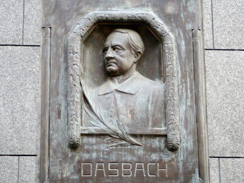 Unbekannt, Gedenktafel für Georg Friedrich Dasbach, 1999 | Glockenstraße, Trier-Mitte/Gartenfeld, Trier