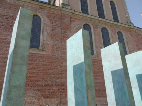 Clas Steinmann, Mahnmal für deportierte Sinti und Roma, 2012 | Bischof-Stein-Platz, Trier