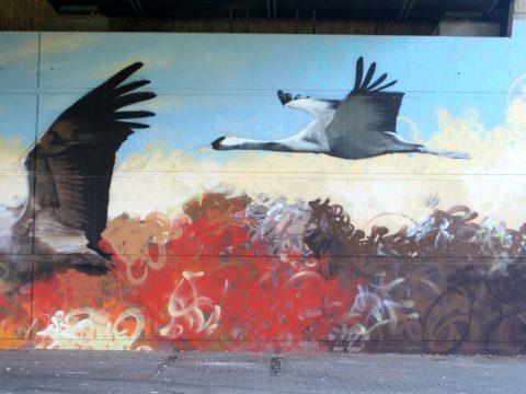 Mantra_&_Love_Graffiti_Konrad_Adenauer_Brücke_Trier_201705 |
