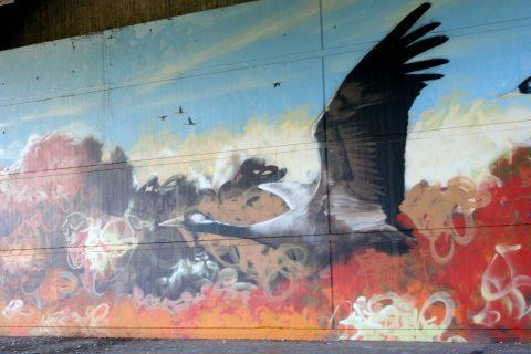 Mantra_&_Love_Graffiti_Konrad_Adenauer_Brücke_Trier_201706 |